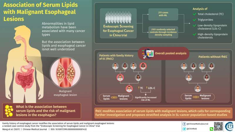 Blood lipids linked to cancer, along with family history